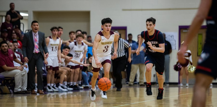 Tuloso-Midway lost a Class 5A Boys Basketball Bi-District playoff game 79-67 to Veterans Memorial on Monday, February 24, 2020 at Miller High School. Josh Alvarado '21.